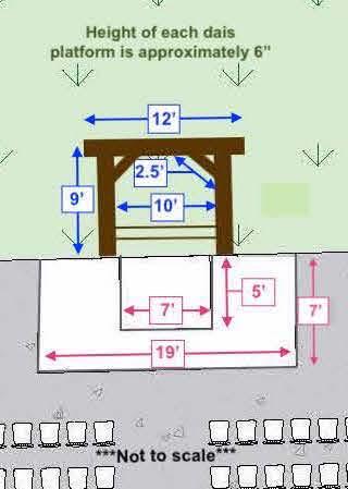 Ceremony Arbor CAD Dimensions